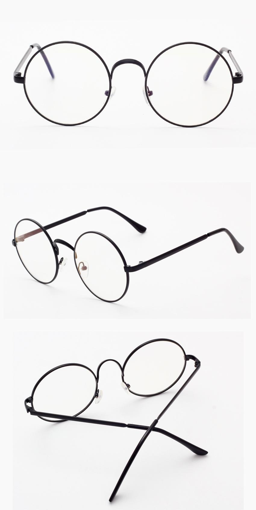 850x1695 Small Round Nerd Harry Potter Glasses Clear Transparent Lens Gold