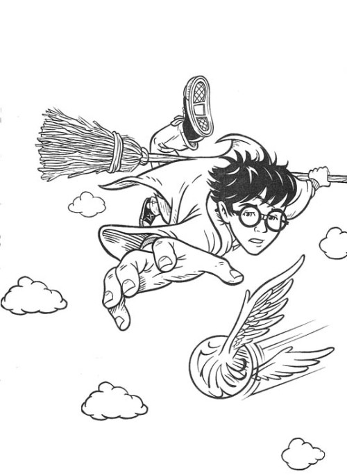 500x685 Harry Potter Flying Brooms Bring Coloring Pages Harry Potter