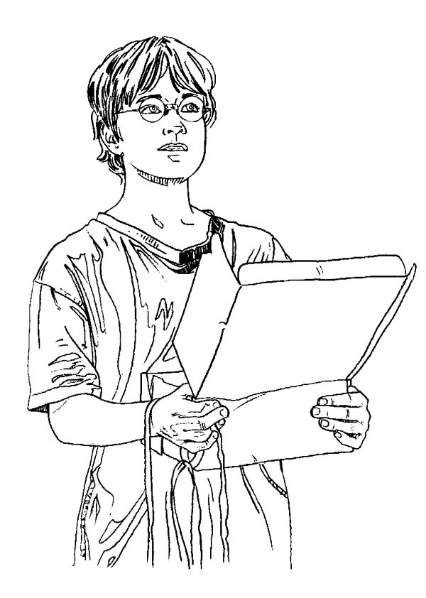 600x842 Harry Potter Receipt Package From Hedwig Coloring Page