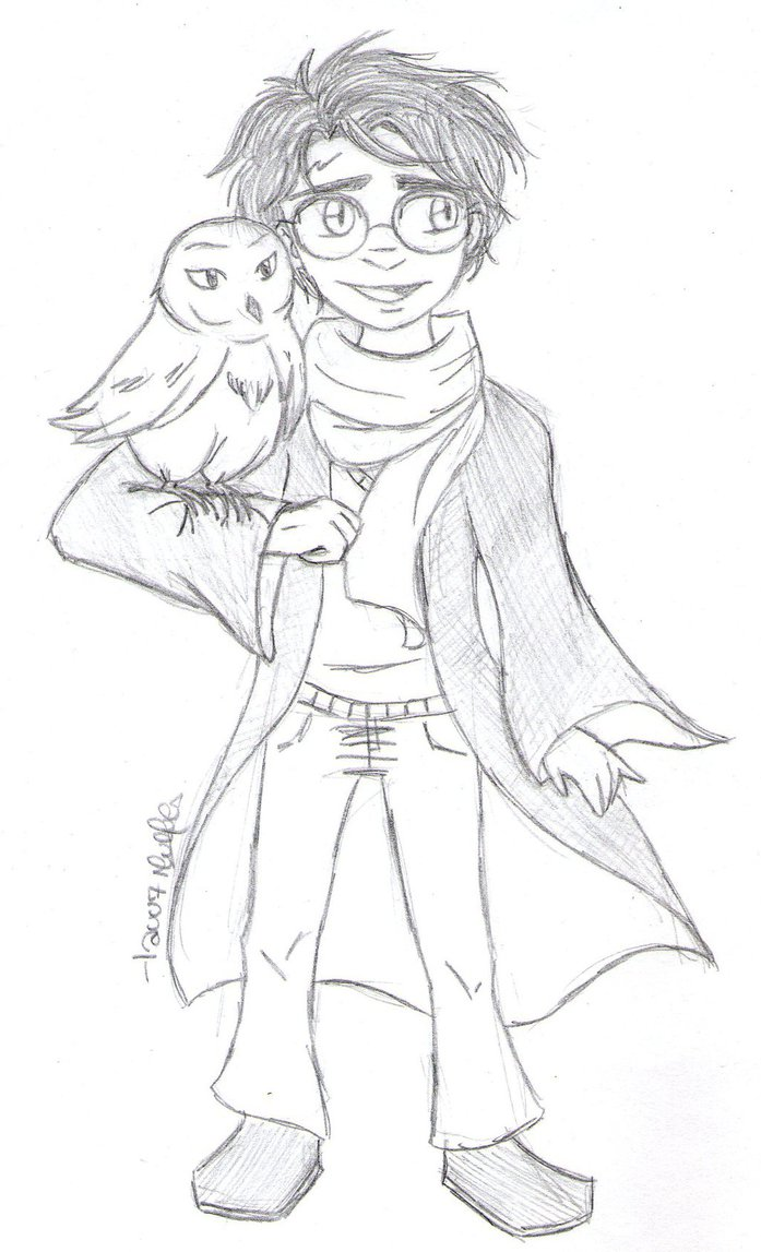 697x1147 Harry And Hedwig By Lauu7