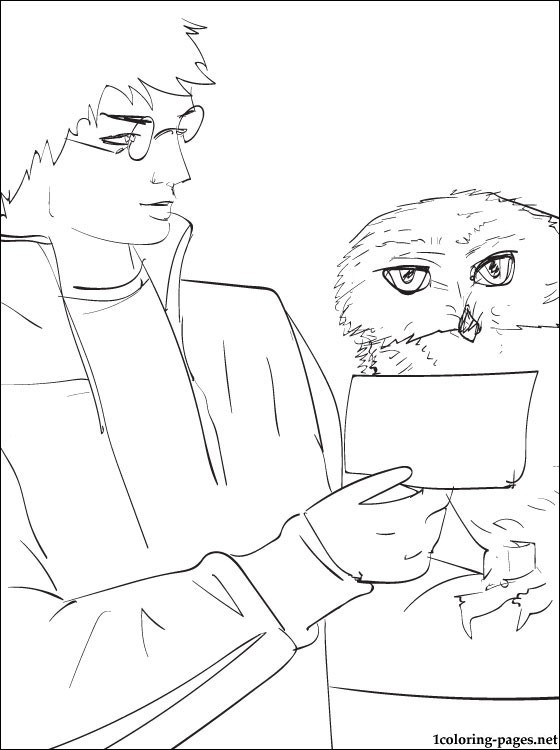 560x750 Coloring Page Harry Potter With An Owl Coloring Pages