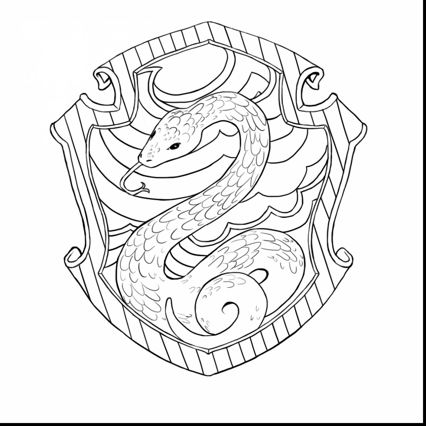 1430x1430 Brilliant Ravenclaw Crest Coloring Page With Harry Potter Coloring