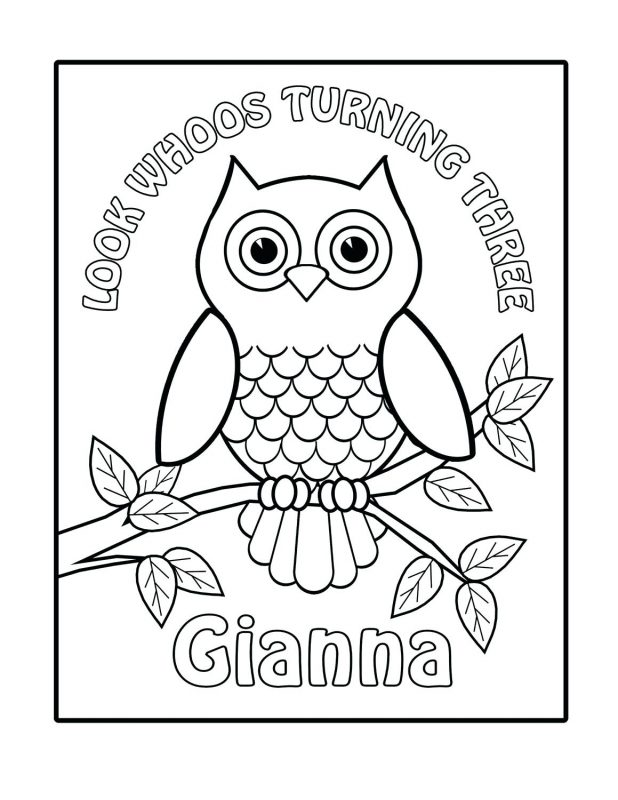 618x800 Black And White Cartoon Illustration Of Owl Birds Animal