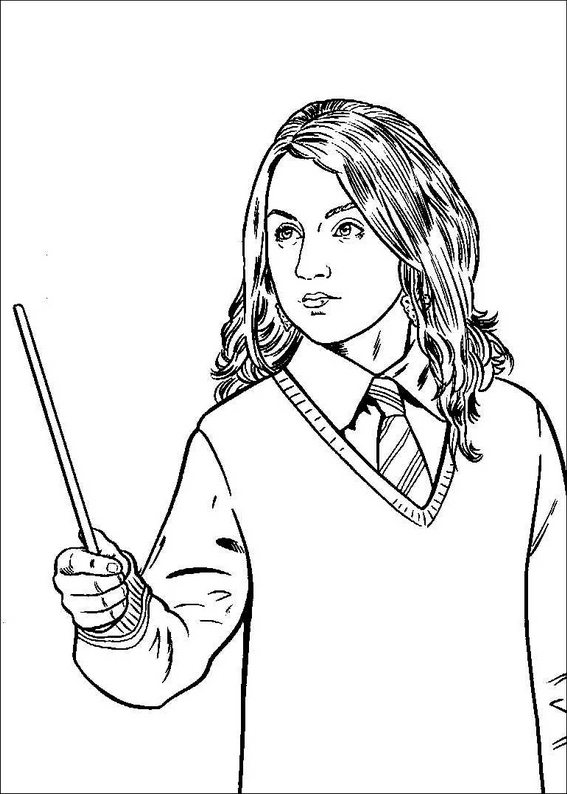 567x794 holding a magic wand harry potter coloring pages pinterest