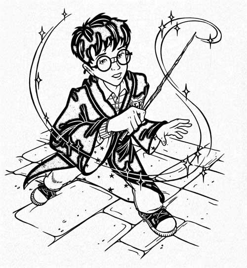 500x543 The Magic Of Harry Potter Deluxe Coloring Kits For The Love Of Harry