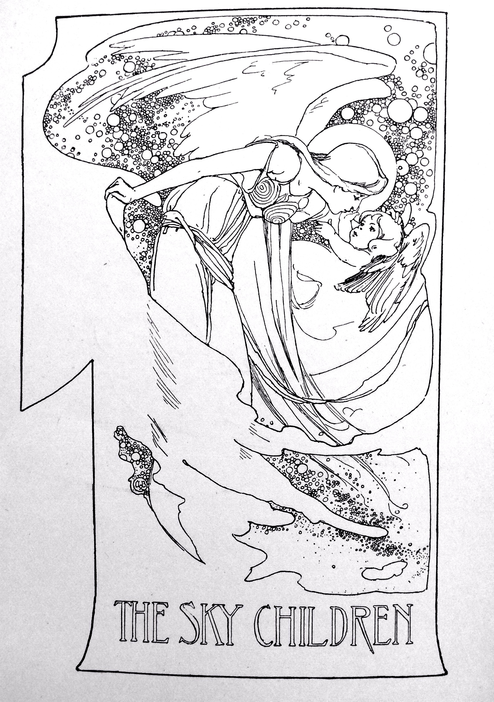 1705x2424 The Sky Children Illustration By Alice B. Woodward Vintage