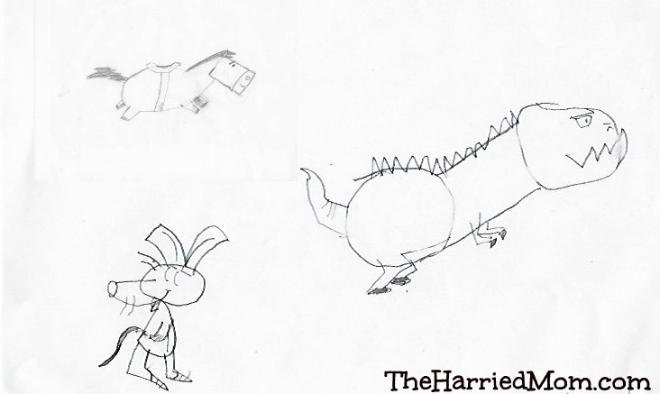 732x437 Thm Drawing Animals Shape By Shape His Animals The Harried Mom