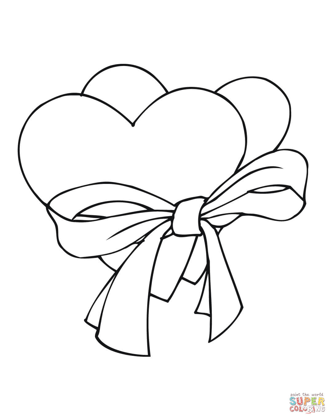 1080x1368 Heart Coloring Pages Free Printable Pictures