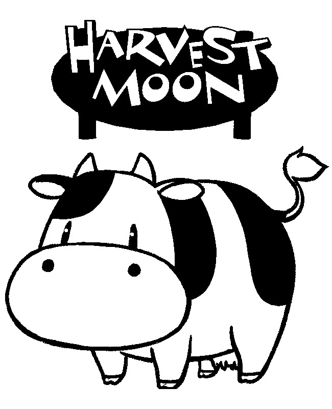 650x800 Coloring Pages Harvest Moon Drawing