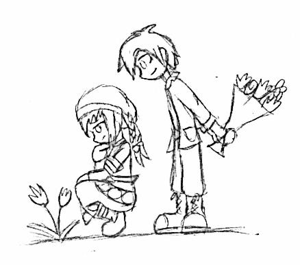 438x387 Harvest Moon Sketch By Apa5