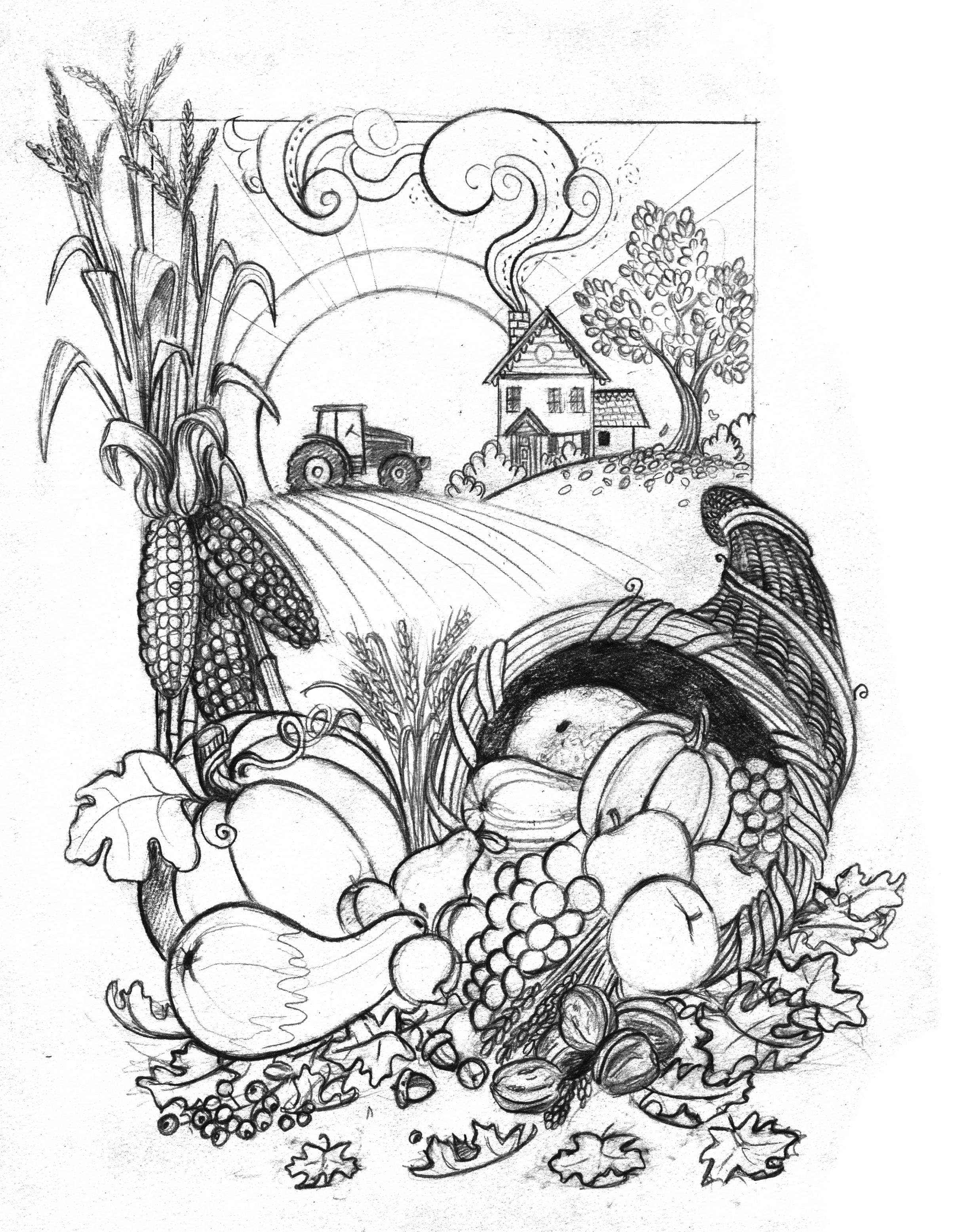 2442x3113 Amanda's Creative Studios John Deere Harvest (Refined Sketch)