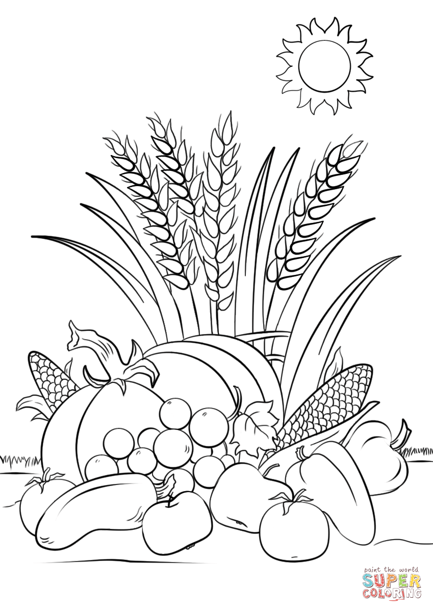 849x1200 Modest Harvest Coloring Pages 32 Page Fall To Print