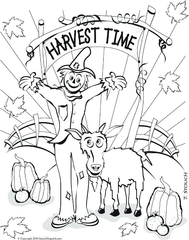 612x775 Harvest Coloring Page Abundance Of Autumn Harvest Coloring Page