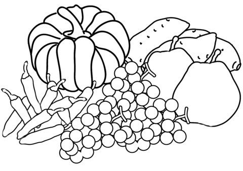 480x339 Autumn Harvest Coloring Page Free Printable Coloring Pages