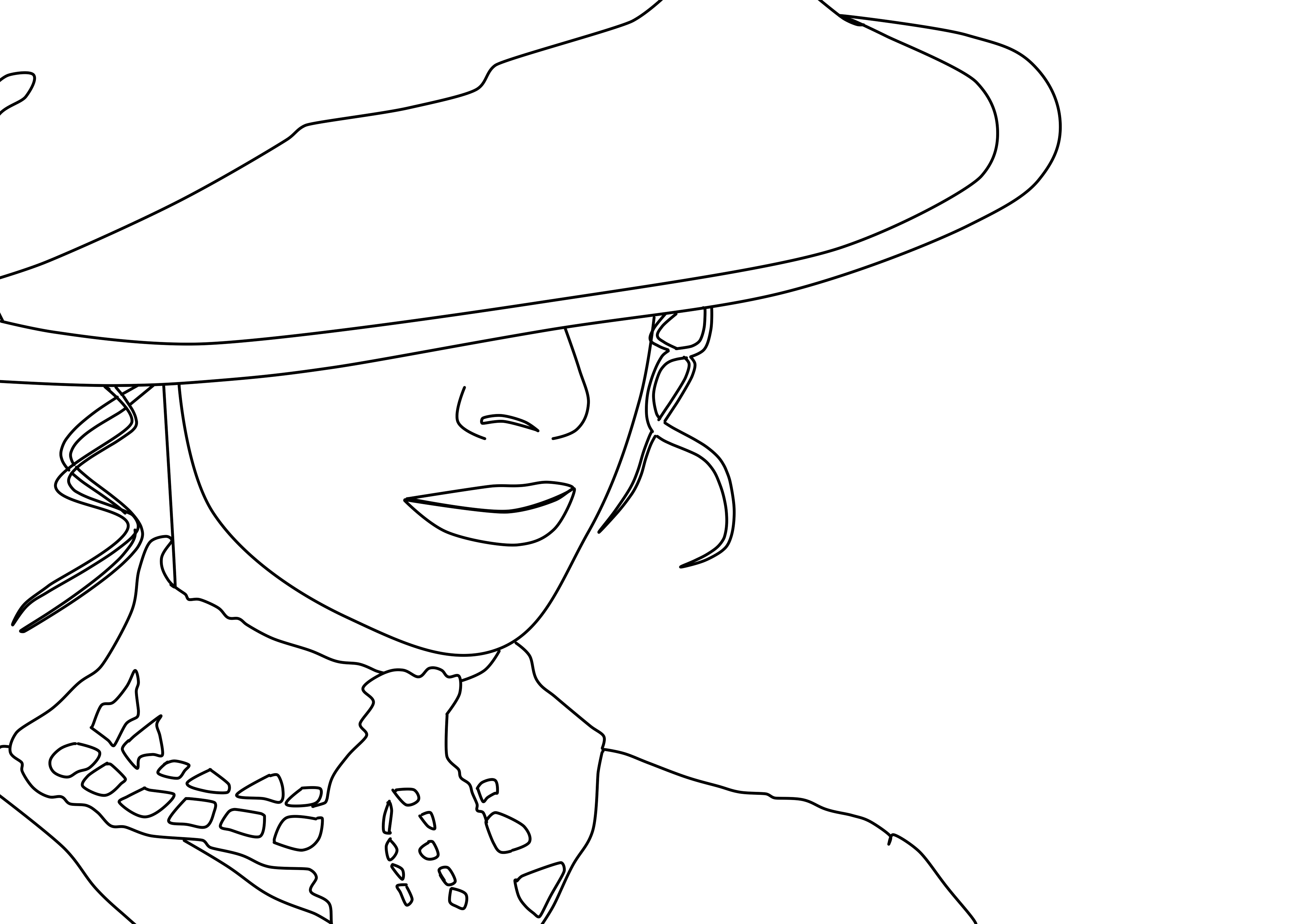 4042x2861 Free Images Black And White, Hat, Artwork, Face, Drawing