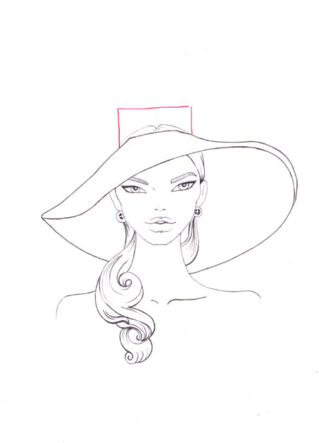 450x624 How To Draw A Fashion Hat I Draw Fashion