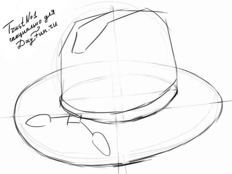 800x600 How To Draw A Hat Step By Step