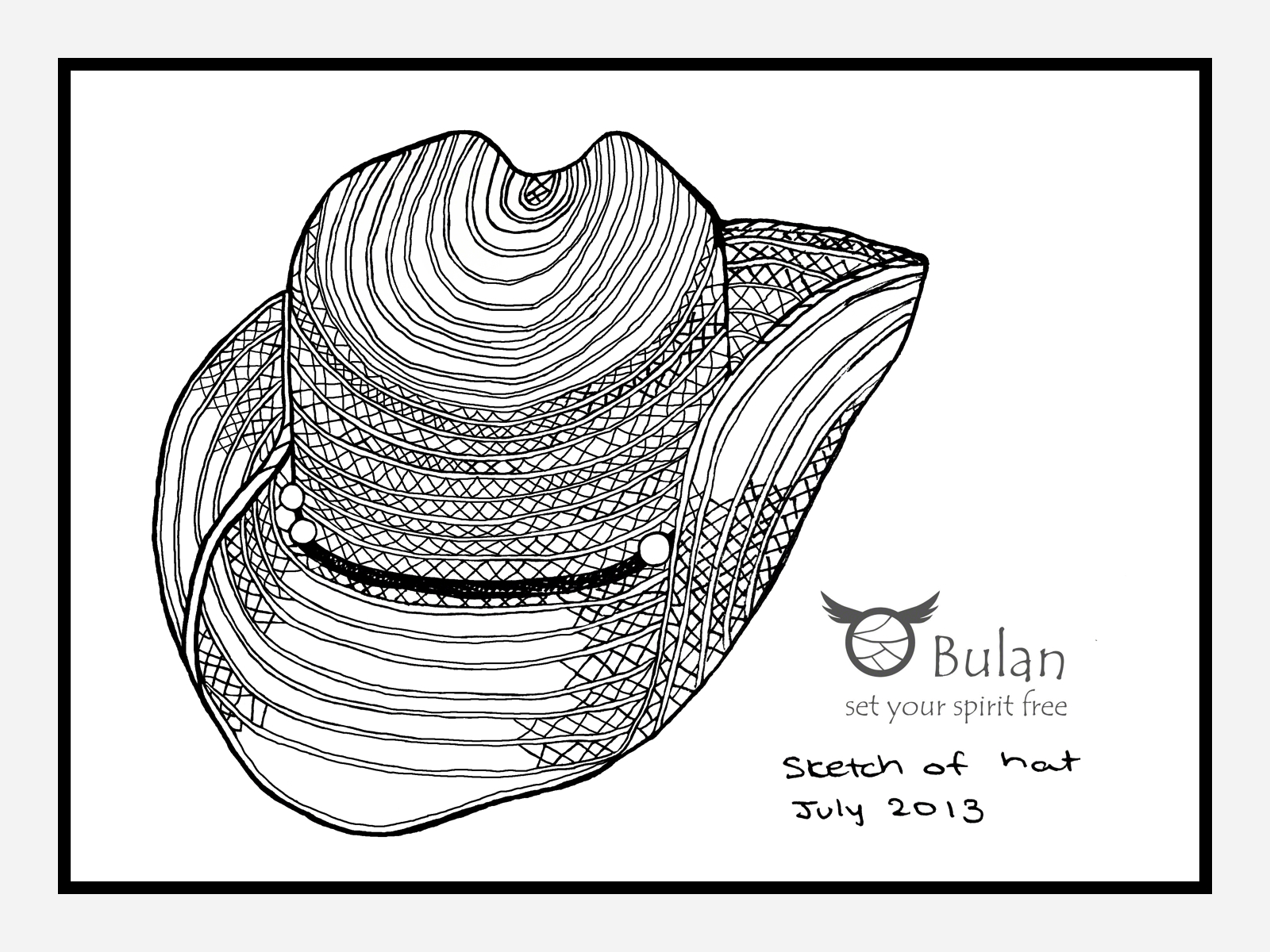 1600x1200 Sketch Of The Day No 94 Cowboy Hat The Crazy Bag Lady
