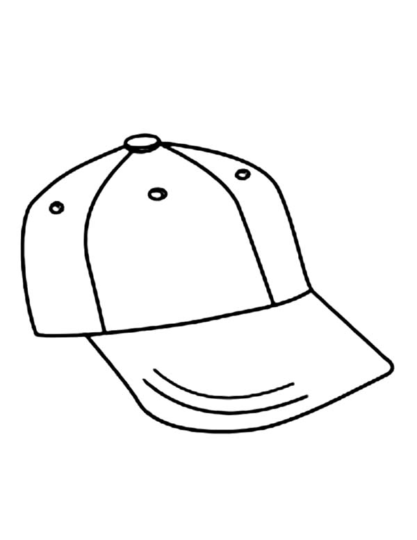 600x777 Dazzling Ideas Baseball Cap Coloring Page How To Draw Colouring