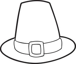 310x261 Free Printable Pilgrim Hat Coloring Page For Kids