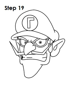 300x388 How To Draw Waluigi