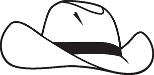 310x151 Cowboy Hat Miscellaneous Decals Custom Lettering