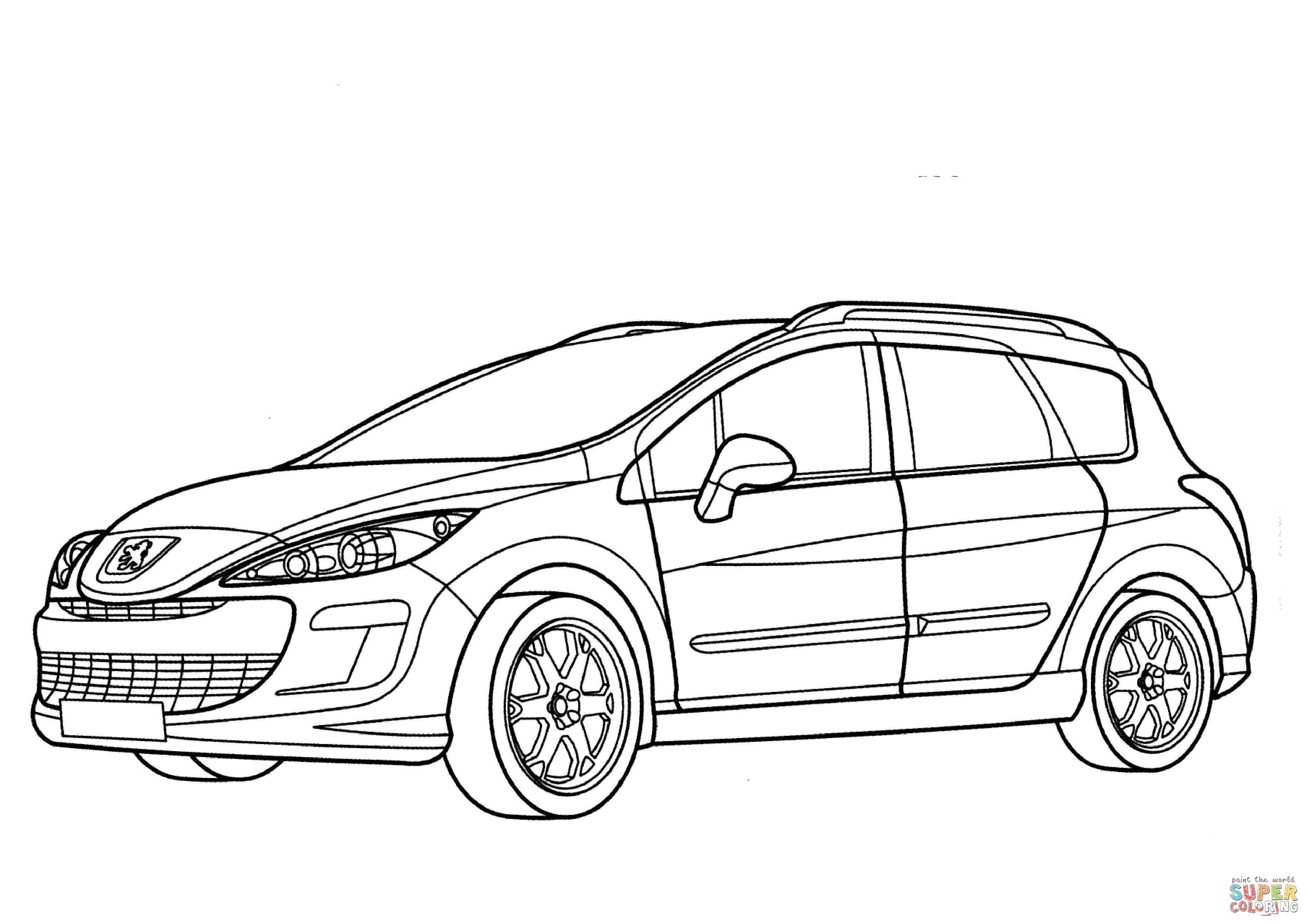 3508x2480 Peugeot 308 Sw Coloring Page Free Printable Coloring Pages
