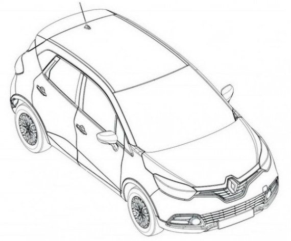 570x473 Sketches Of Upcoming Renault Global Hatchback Leaked Motoroids