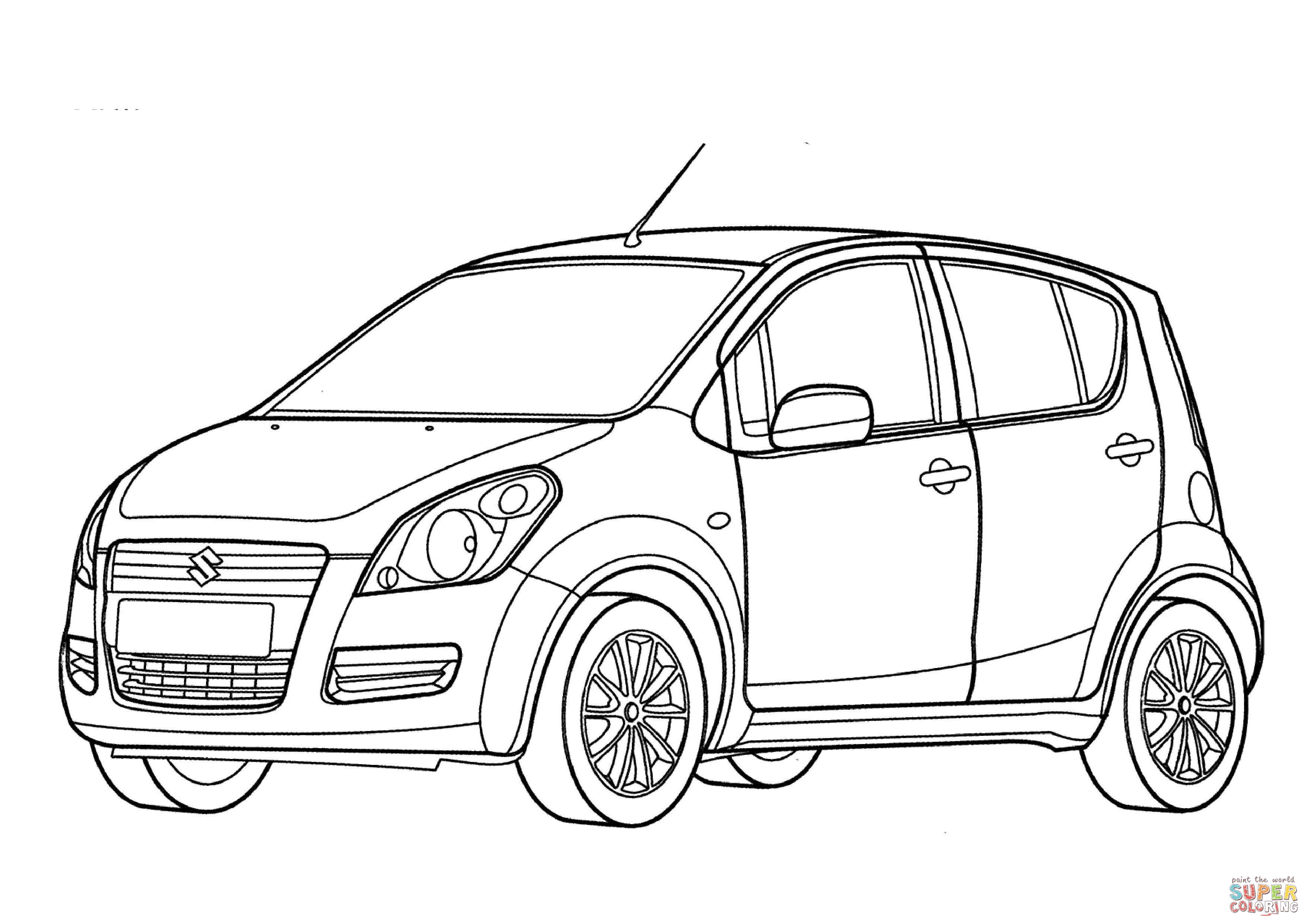 3508x2480 Suzuki Splash Coloring Page Free Printable Coloring Pages