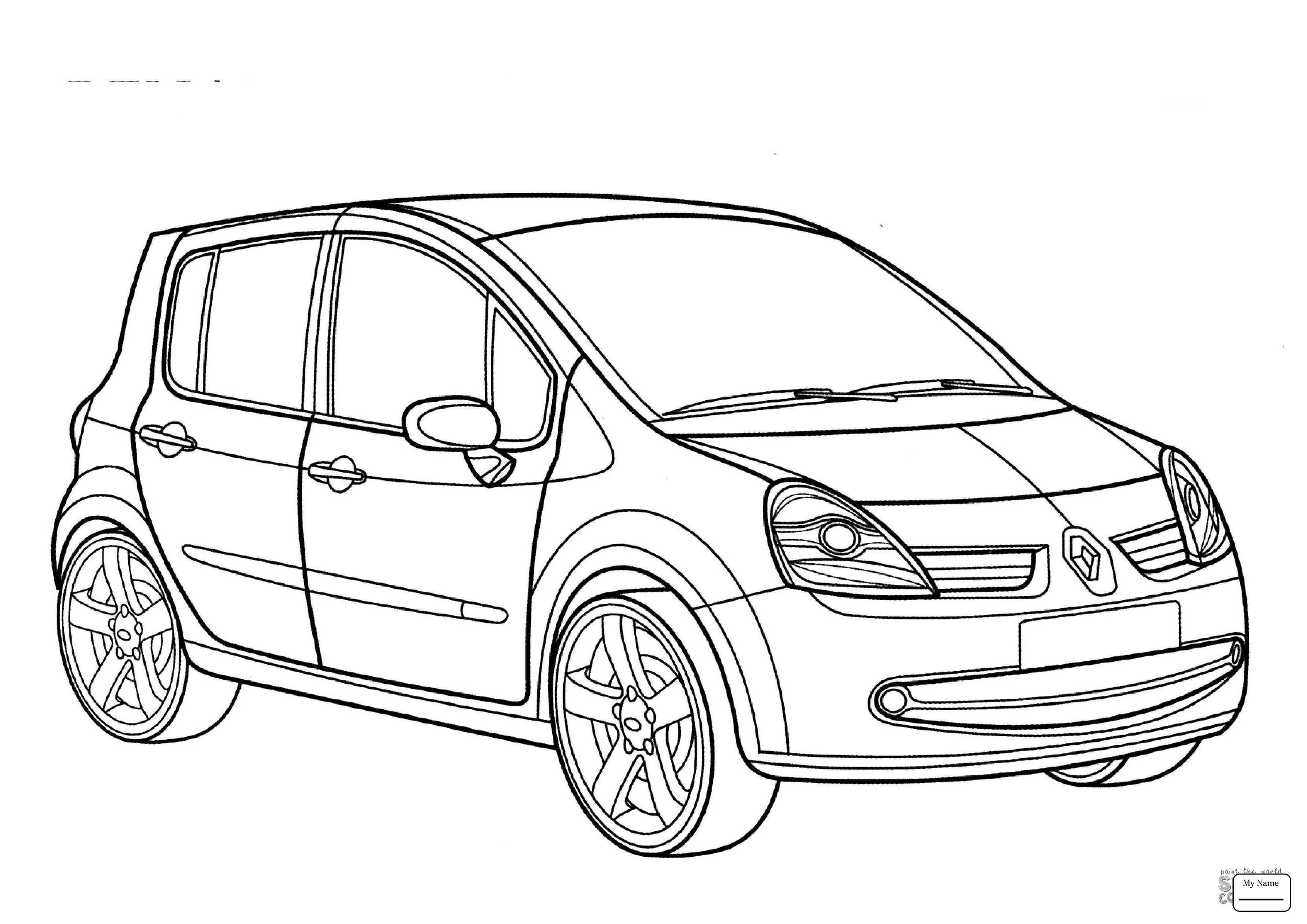 3578x2530 Coloring Pages For Kids Transport Renault Clio Estate
