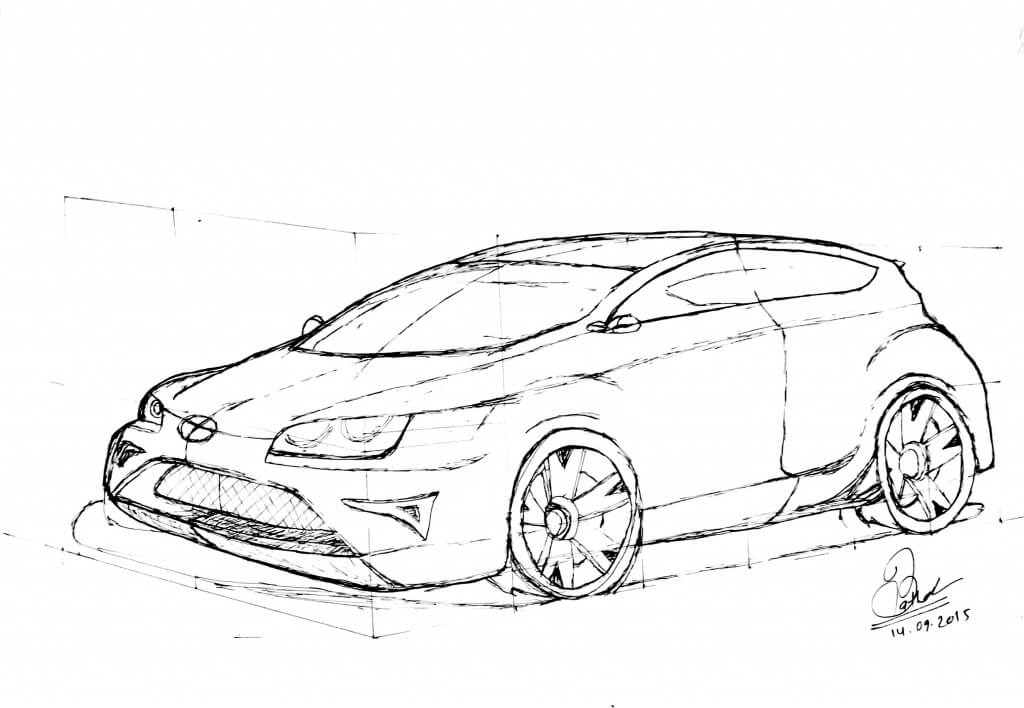 Honda Drawing At Getdrawings Com