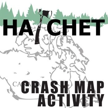 350x350 Hatchet Crash Map Activity (By Gary Paulsen) Map Activities