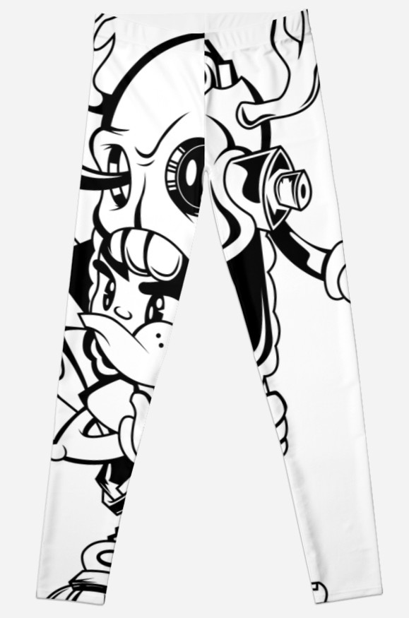579x875 Hatchet Drawing Black And White Leggings By Sticker Shop Redbubble
