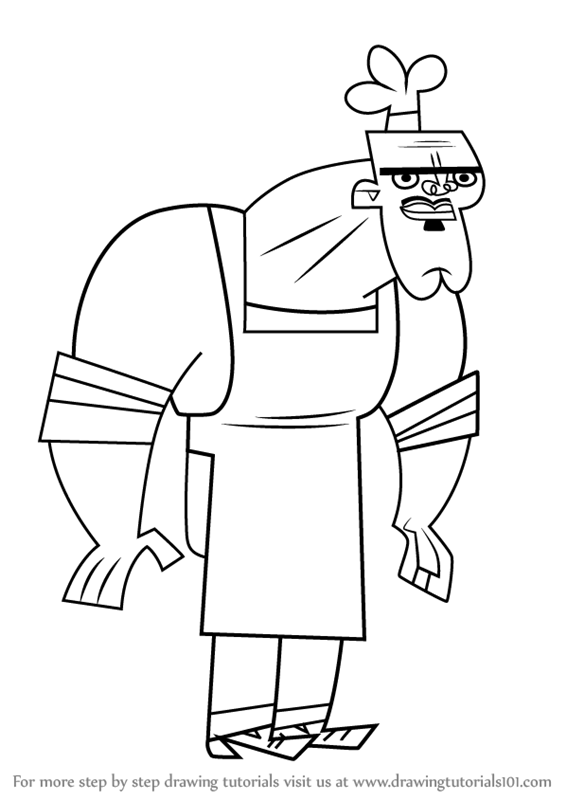 566x800 Learn How To Draw Chef Hatchet From Total Drama (Total Drama) Step