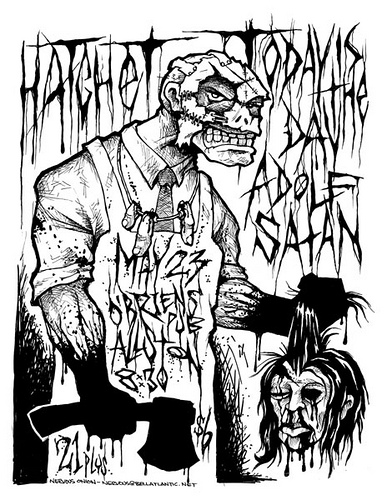 387x500 Today Is The Day, Hatchet Punk Hardcore Flyer Now This Is