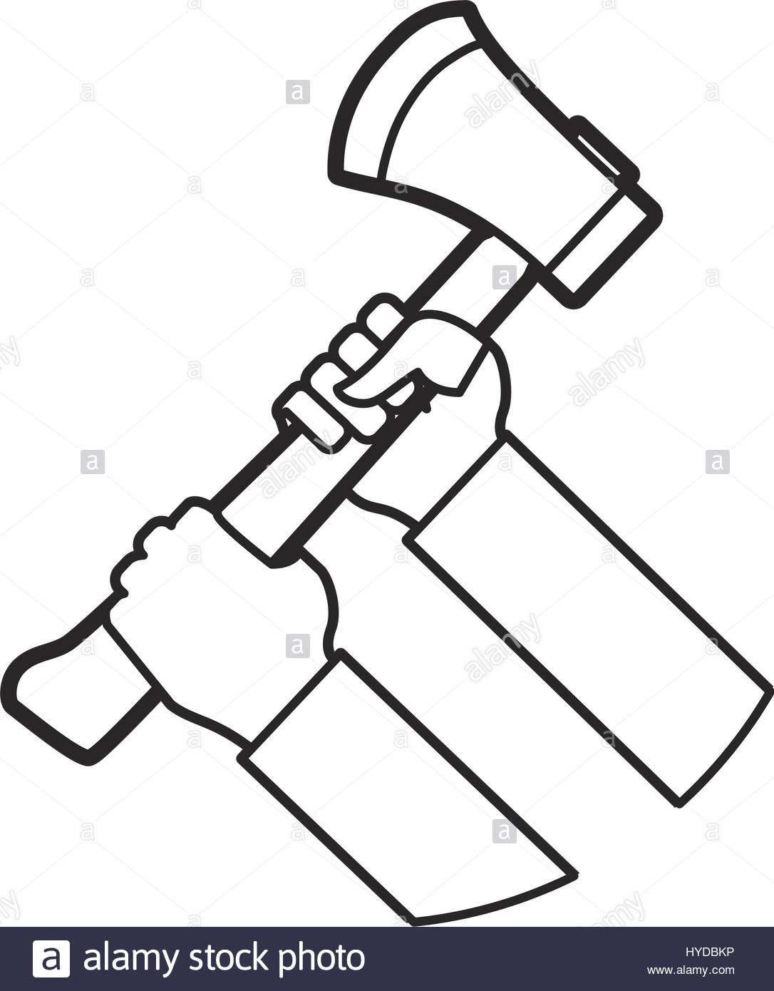 1086x1390 Hands Holding Axe Fire Tool Vector Icon Illustration Stock Vector