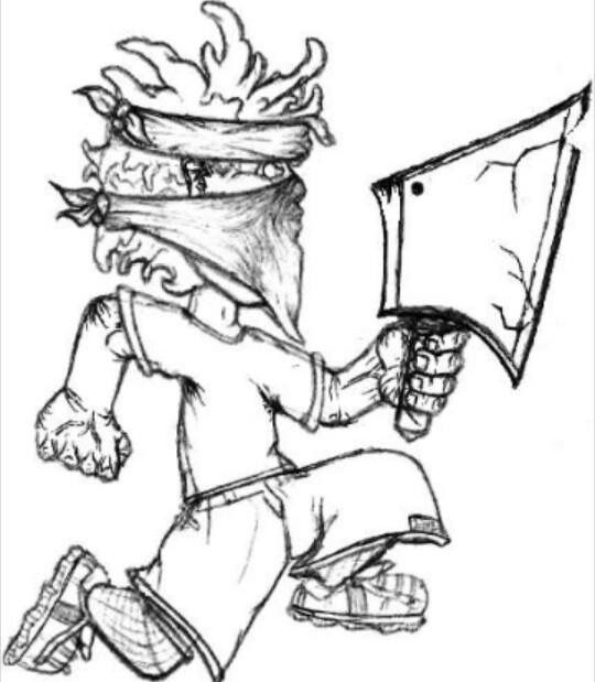 540x619 Juggalo Coloring Book Hatchet Man Coloring Pages