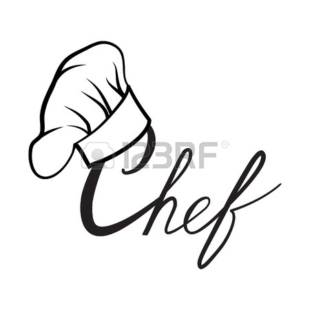 450x450 Cook Hat. Drawn Hat Chef Cook. Hat Chef Cooker. Vector Black