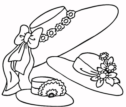 480x408 Easter Hats Coloring Page Free Printable Coloring Pages