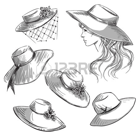 450x443 4,557 Straw Hat Stock Illustrations, Cliparts And Royalty Free