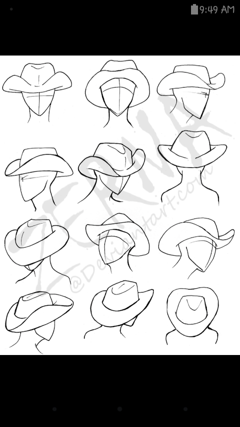 480x854 How To Draw Cowboy Hats Drawing Tips Cowboys