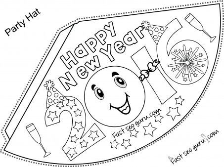 453x338 Party Hat New Year Drawings Merry Christmas And Happy New Year 2018