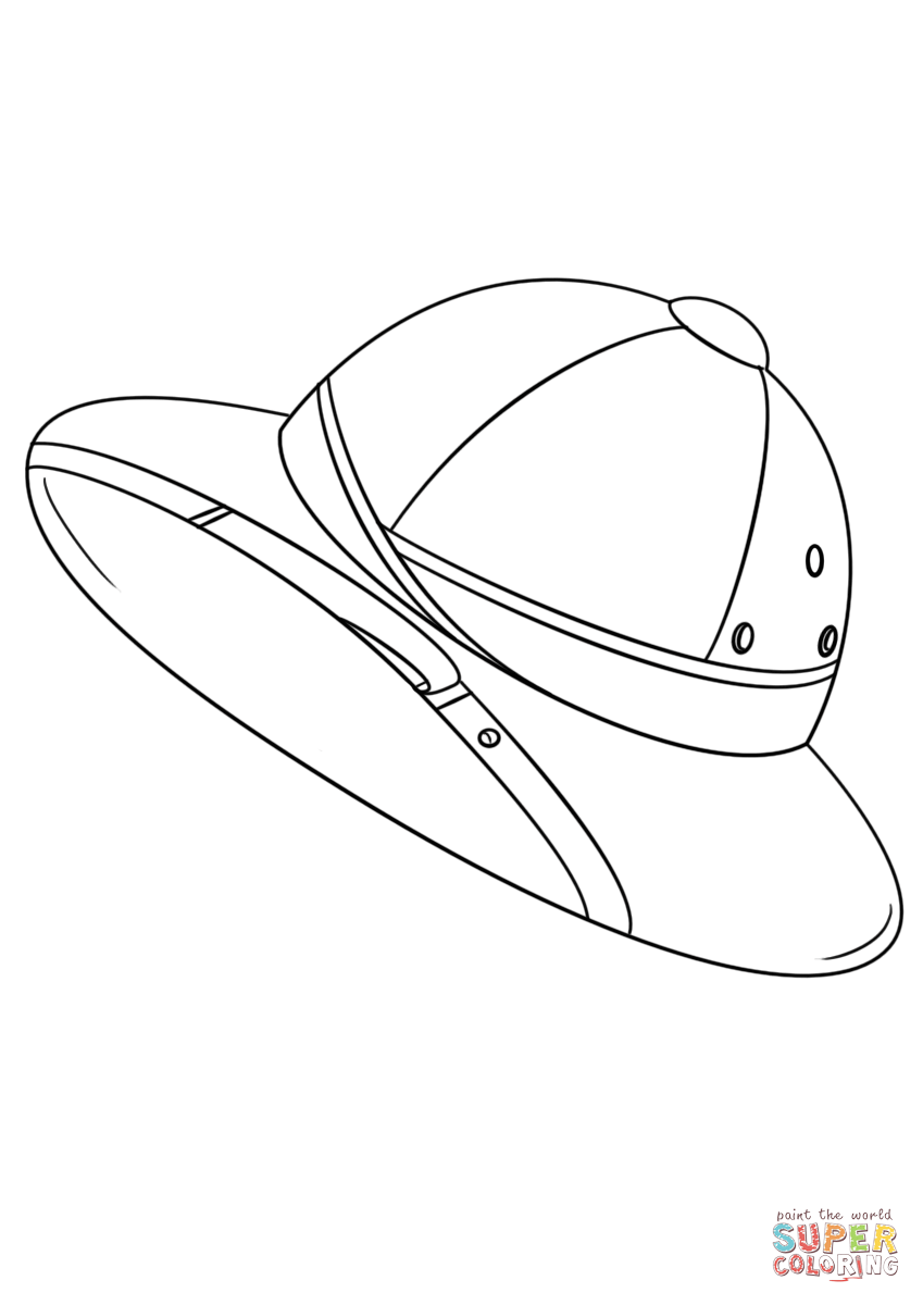 849x1200 Safari Hat Coloring Page Free Printable Pages