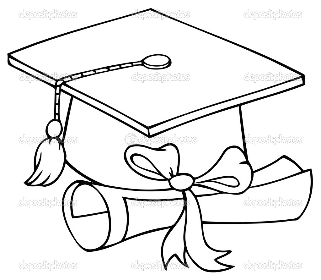 1023x891 How To Draw A Graduation Cap