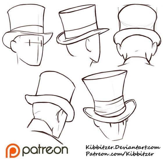 564x545 How To Draw Hats