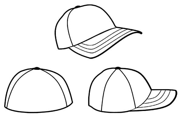 600x387 Baseball Hat Coloring Pages