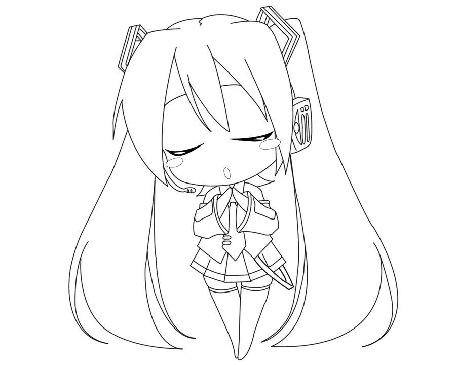 Hatsune Miku Chibi Drawing at GetDrawings.com | Free for ...