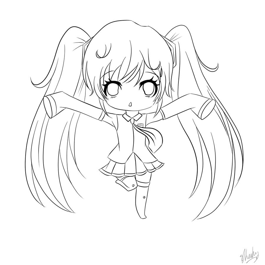 Hatsune Miku Chibi Drawing at GetDrawings.com | Free for personal ...