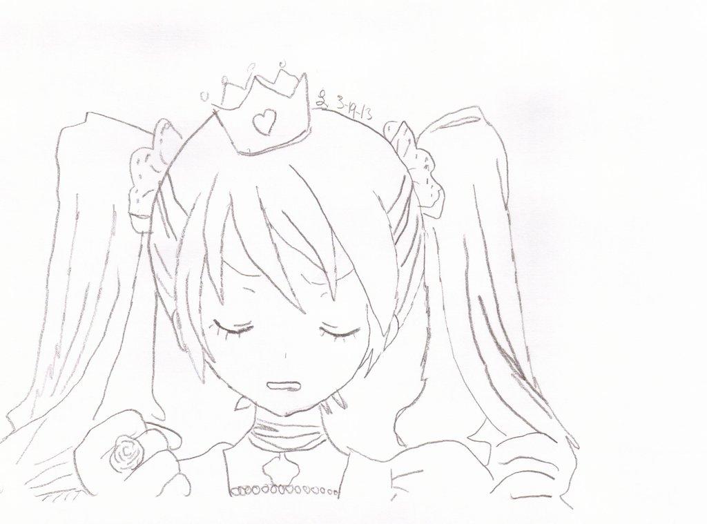 1024x759 Hatsune Miku World Is Mine Drawing. By Rookieandsangolove
