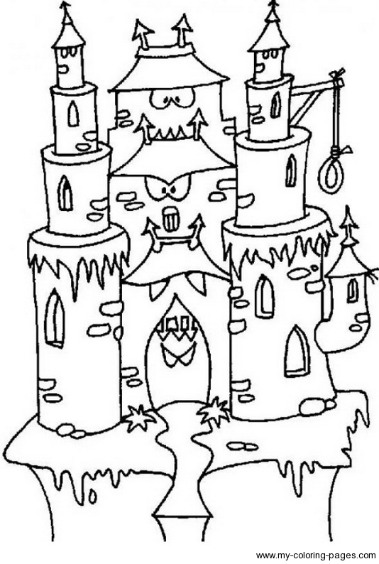 534x794 Haunted Castle Coloring Pages